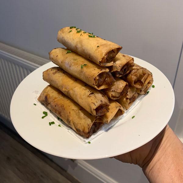 spring rolls (lumpias)